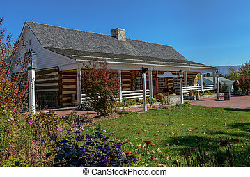 wooden house - Traditional old wooden house with a shingle...