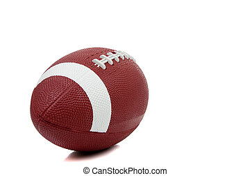 American football on a white background - An american...