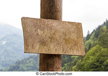 木製である, ブランク, 板, 印