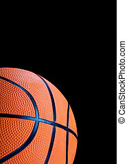 Basketball on Black background - A basketball on black...