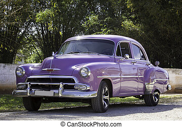 purple car