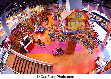 shopping mal playground - modern shopping mall playground...