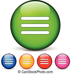 menu icons - vector illustration of circle icons for menu
