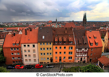Panoramic cityscape of Nuremberg, Bayern, Germany