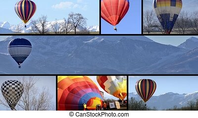 Balloon flights montage - Hot-hair balloons, collage