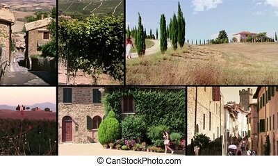 Tuscany, montalcino - Montalcino cityscapes and countrysides...