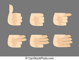 Set of icons hands