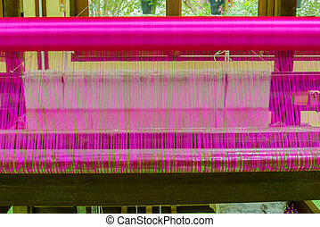 Machine woven silk that is rare in Asia, and is also a craft...
