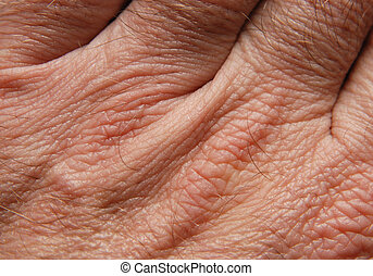 Human skin in close up