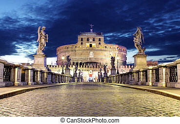Castel Sant Angelo from bridge, Rome