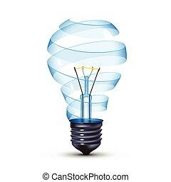 surreal lightbulb - surreal spiral glass tungsten light bulb