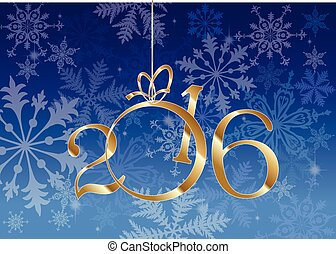 NEW YEAR - Happy New Year 2016 greeting card