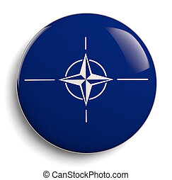 NATO blue symbol isolated on white.