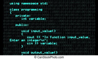 C program code background - C program code technology...