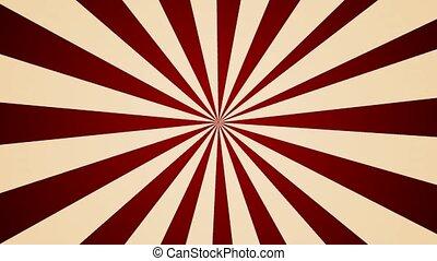 Cream Red pinwheel