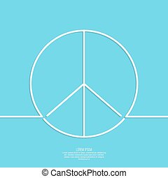 Peace sign. The concept of non violence and humanity. World...