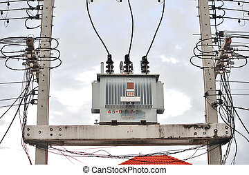 transformer on high power station High voltage