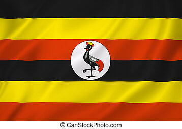 Uganda flag - Uganda national flag background texture.
