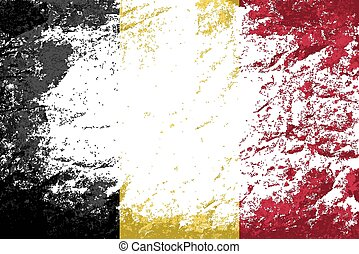 Belgian flag Grunge background Vector illustration Eps 8