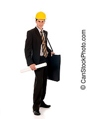 Businessman engineer