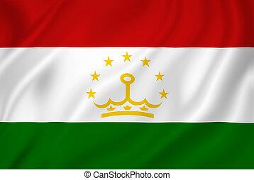 Tajikistan flag - Tajikistan national flag background...