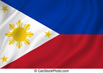 Philippines flag - Philippines national flag background...