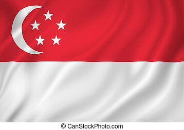 Singapore flag - Singapore national flag background texture