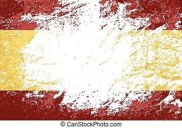 Spanish flag Grunge background.
