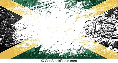 Jamaican flag Grunge background Vector illustration Eps 8