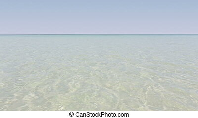 tropical sea beach ripple water ref - camera over...