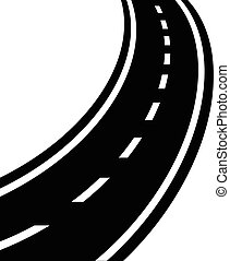 Winding road vector eps 10