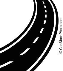 Winding road vector eps 10