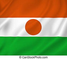 Niger flag - Niger national flag background texture.