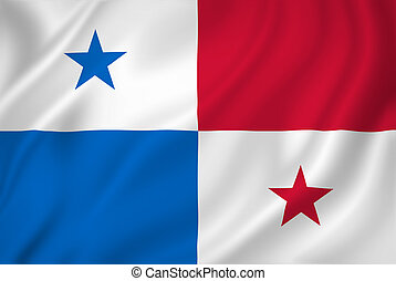 Panama flag - Panama national flag background texture.
