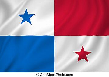 Panama flag - Panama national flag background texture.