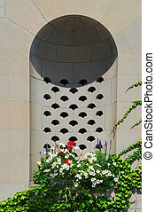 Alcove on Building - Decorative alcove on exterior of...
