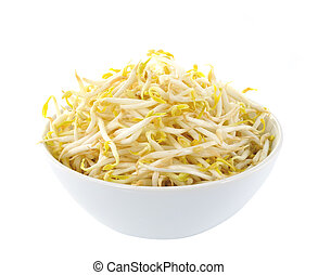 Bean Sprouts in the white bowl