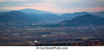 Overlooking Kelowna, Scenic Mountaintop View