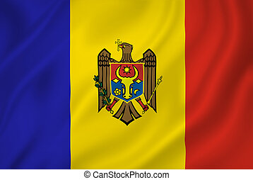 Moldova flag - Moldova national flag background texture.