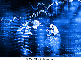 Digital design of Stock market chart