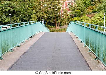 Endless road over a bridge - Endless road via a pedestrian...