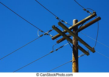 Telephone Pole with sky.