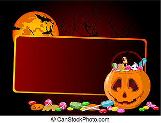 Halloween treats background - A vector background of Jack...