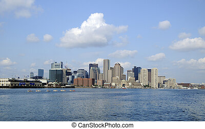 Boston Harbor - View of Downtown Boston from Boston Harbor