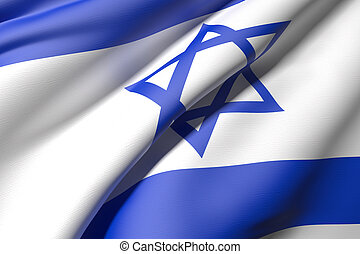 Israel flag - 3d rendering of an Israel flag