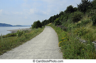 Boston Harbor Island - Hiking trail on Spectacle Island in...