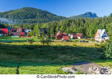 Zakopane - A view from the countryside at Zakopane, Poland.
