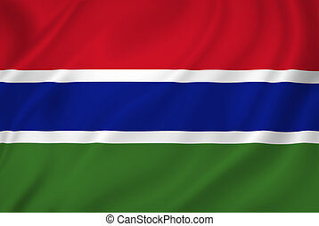 Gambia flag - Gambia national flag background texture