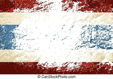 Thailand flag Grunge background.