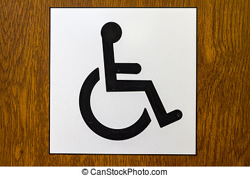 Wheelchair Accessible Sign - International disabled symbol...